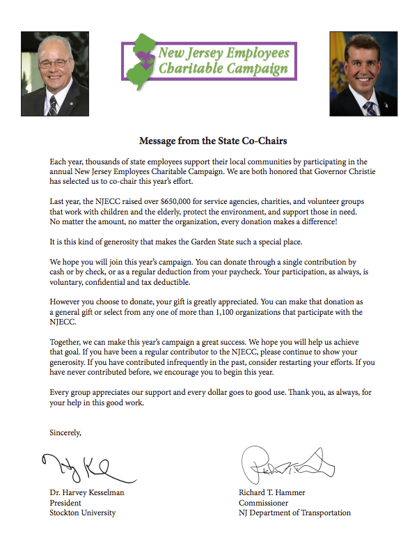 Message From State Co Chairs
