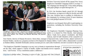 Stockton University Kicks-Off New Jersey Employees Charitable Campaign