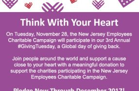 Celebrate NJECC's 3rd Annual #GivingTuesday Day of Giving November 28th